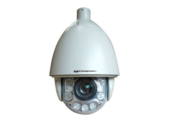 Microseven Real HD 720P Mega Pixel IR Optical Zoom x18 Pan and Tilt High Speed Dome H.264 IP Camera