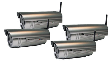 4 PCS M7 outdoor IR 550/600 TVL wireless network camera