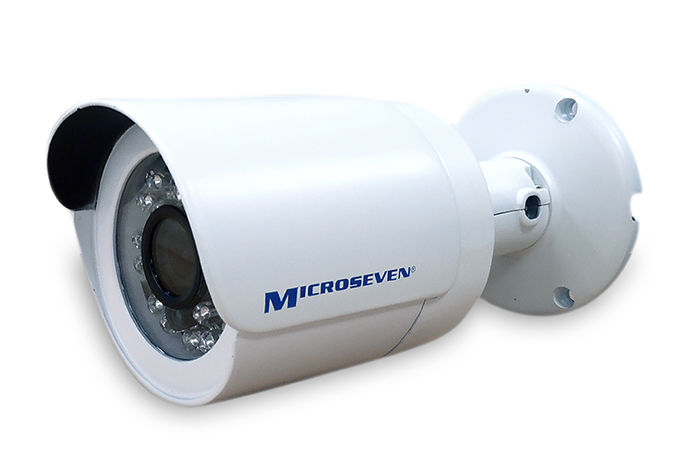 "Microseven M7B15-POE 1.3MP HD 960P 3.6 mm 3MP  Lens 1/3"" Aptina CMOS Bullet H.264 Triple Streams ONVIF IP Camera P2P Build-in POE IP66 20M ICR-Filter Indoor / Outdoor - Compatible with any ONVIF NVR"