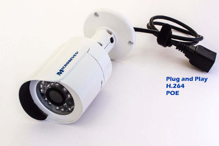 "Microseven 1.3 Megapixel 960p Onvif 3.6 mm 1/3"" Aptina CMOS Bullet Real HD H.264 IP Camera P2P 12V POE IP66 20M IR ICR Filter Indoor / Outdoor - M7B15- Compatible with any Onvif NVR"