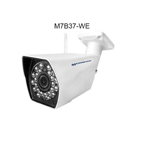 M7B37-WE HD 1.3MP 960P 3.6mm 3MP Lens Plug and Play ONVIF Wireless IP Camera WiFi P2P Infrared Outdoor-IP66 ( No SD Card Slot )/Free Live Streaming on microseven.tv
