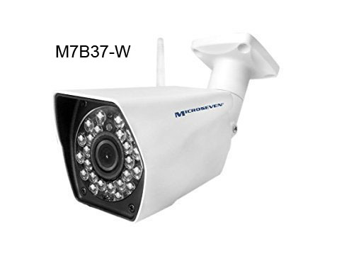 M7B37-W HD 1.3MP 960P 3.6mm 3MP Lens Plug and Play ONVIF Wireless IP Camera WiFi P2P Infrared Outdoor-IP66, M7 Cloud/Free Live Streaming on microseven.tv
