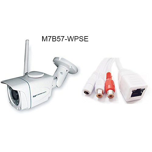 Microseven M7B57-WPSE HD 960P 1.3MP 3.6mm 3MP Lens Plug and Play ONVIF Wireless Outdoor IP Camera 64GB Build-in POE ONVIF Audio/Free Live Streaming on microseven.tv