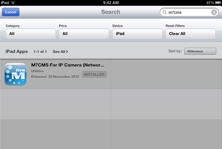 Install M7CMS on your iPad