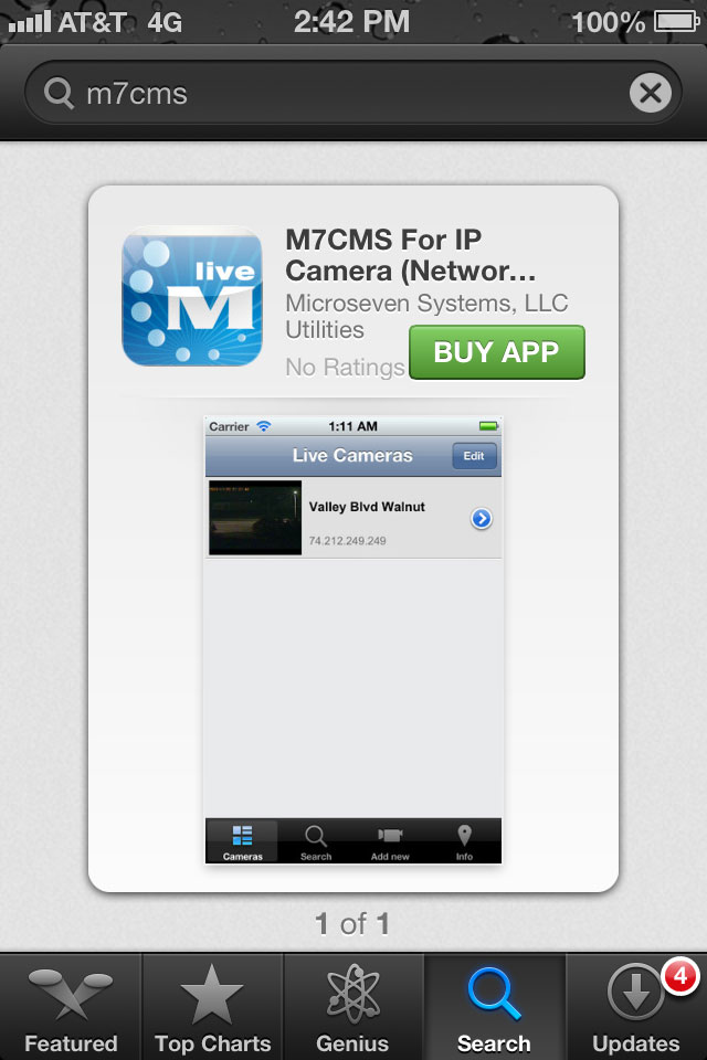 Buy M7CMS Application for iPhone