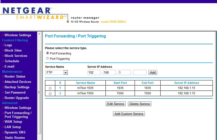 do port forwarding on port 1935, port 7000 from router