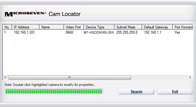 Find camera with M7 cam locator