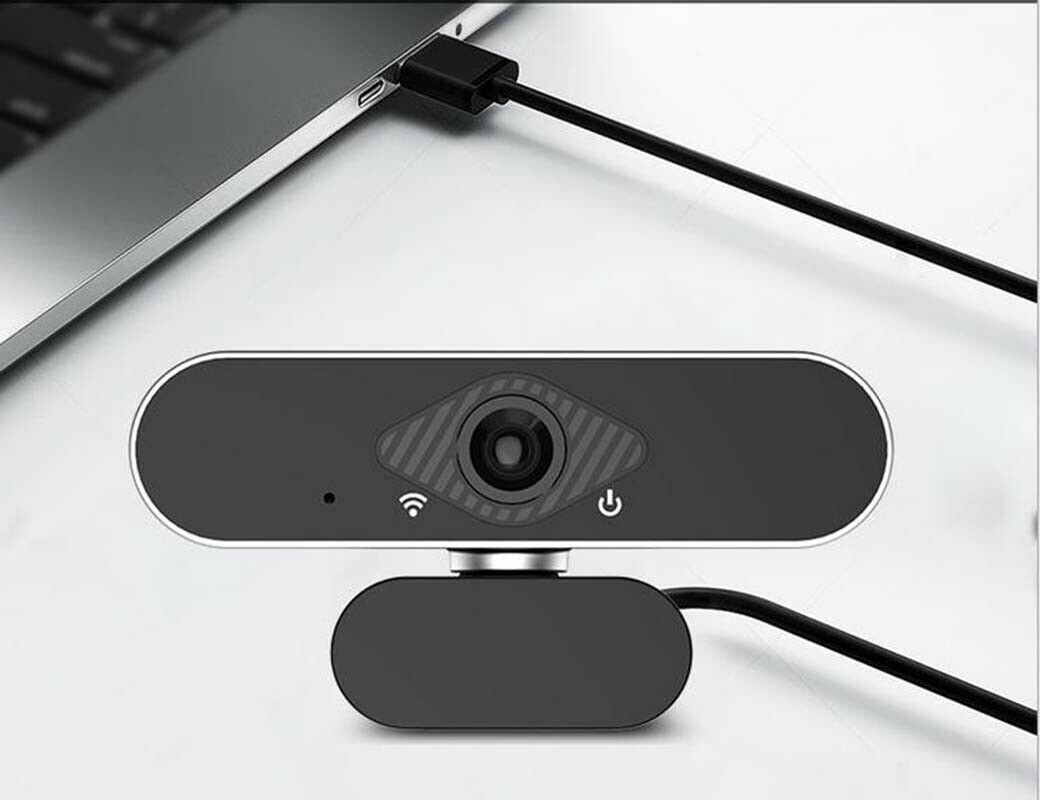 Microseven 1080P Webcam with Microphone Full HD Computer Camera for PC Desktop with Wide Angle USB Web Camera for Live Streaming Video Calling and Recording