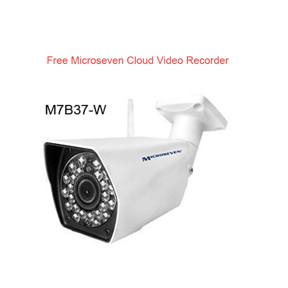 M7B37-W HD 960P 3MP 3.6mm Lens Plug and Play ONVIF Wireless IP Camera WiFi P2P Infrared Outdoor-IP66, Free M7 Cloud+Free Live Streaming on microseven.tv /Works with Amazon Alexa (No Built-in POE)