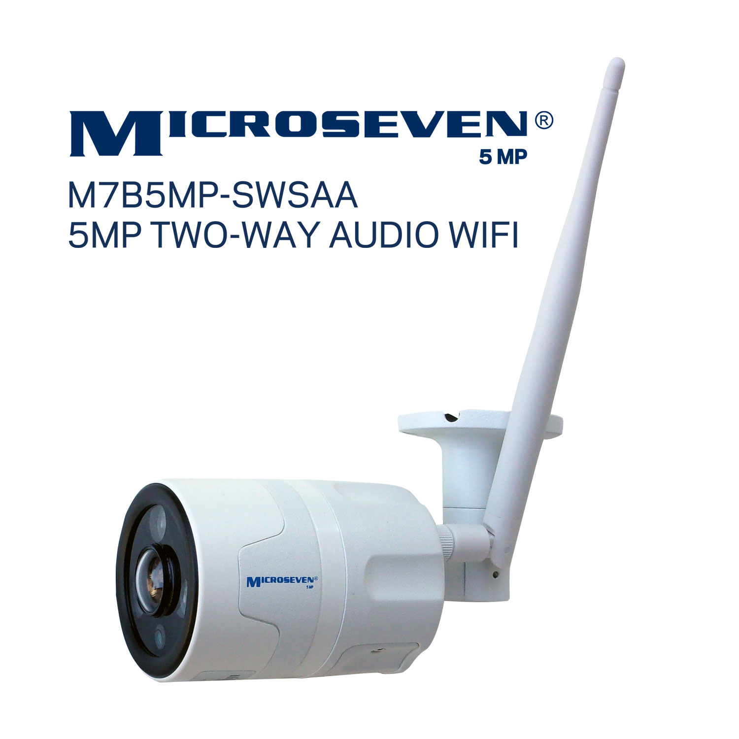 microseven works with amazon alexa, motion activated security camera