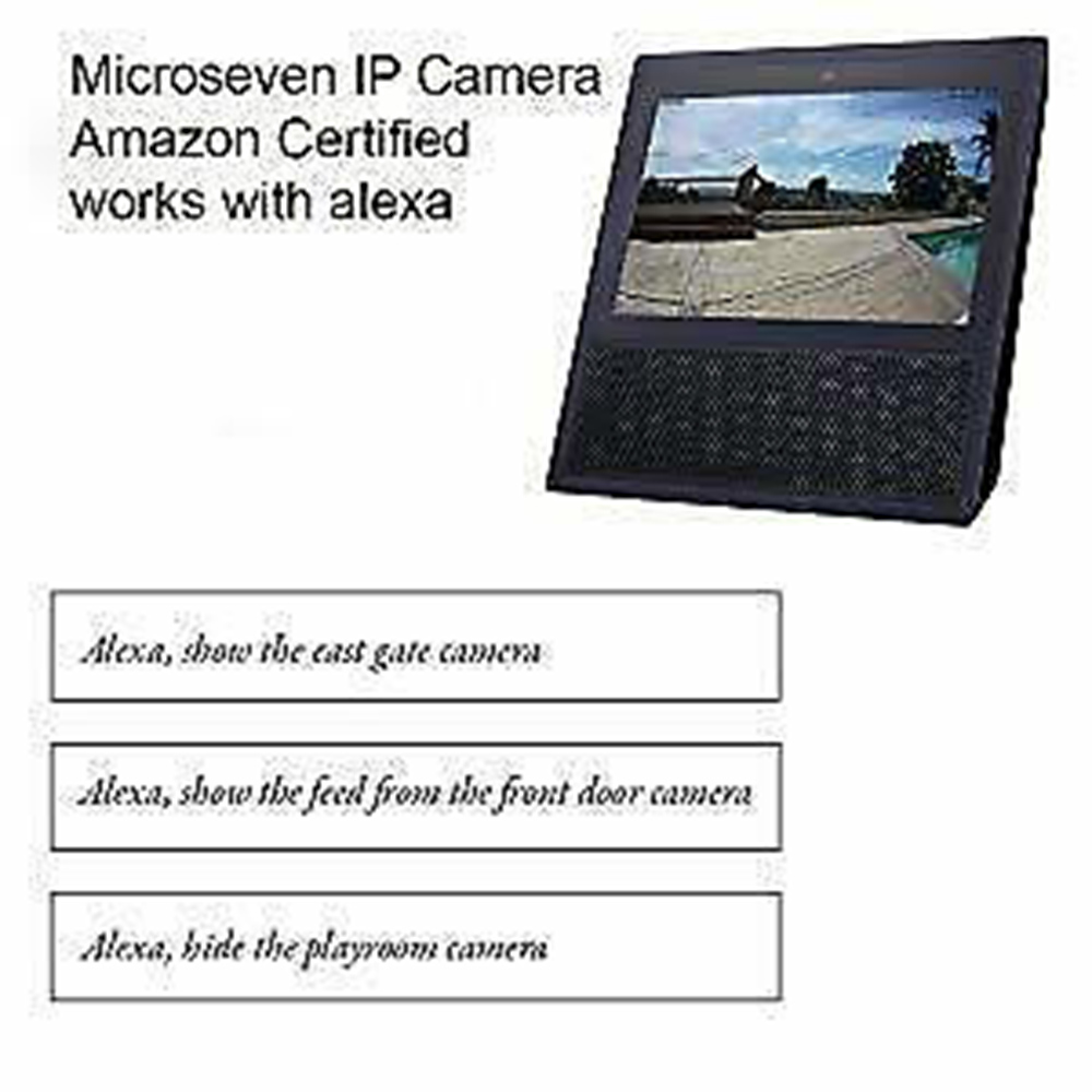Microseven Open Source 5MP (2560x1920) UltraHD PoE+ 20X Optical Zoom Pan Tilt Speed Dome IP Camera, Human Motion Detection & Auto Tracking, Indoor / Outdoor PTZ Camera, Works with Alexa with No Monthly Fee, Day & Night,Sony Starvis CMOS,IP66 Weatherproof, Built-in 128GB SDcard Slot, Two-Way Audio with Build-in Microphone & External Speaker (Included), Auto Cruise,ONVIF, Web GUI & Apps, VMS (Video Management System), Free 24Hr Cloud Storage + Broadcasting on YouTube,Facebook & Microseven.tv
