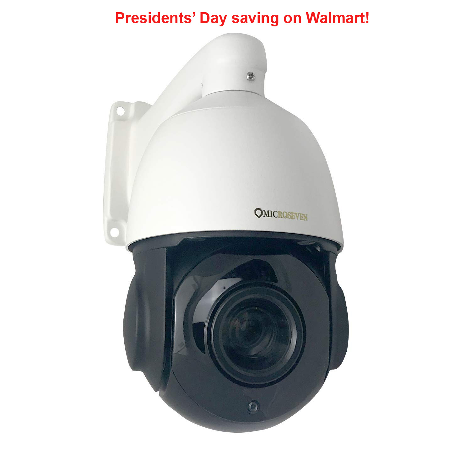 Microseven 1080P / 30fps HD 20X Optical Zoom Pan Tilt Speed Dome IP Camera Built-in WiFi &POE+ Outdoor PTZ Camera, Works with Alexa, Night Vision,Sony Starvis CMOS,IP66 Weatherproof, Built-in 128GB SDcard Slot, Two-Way Audio with Build-in Microphone & External Speaker (Included), Auto Cruise,ONVIF,Free 24Hr Cloud Storage