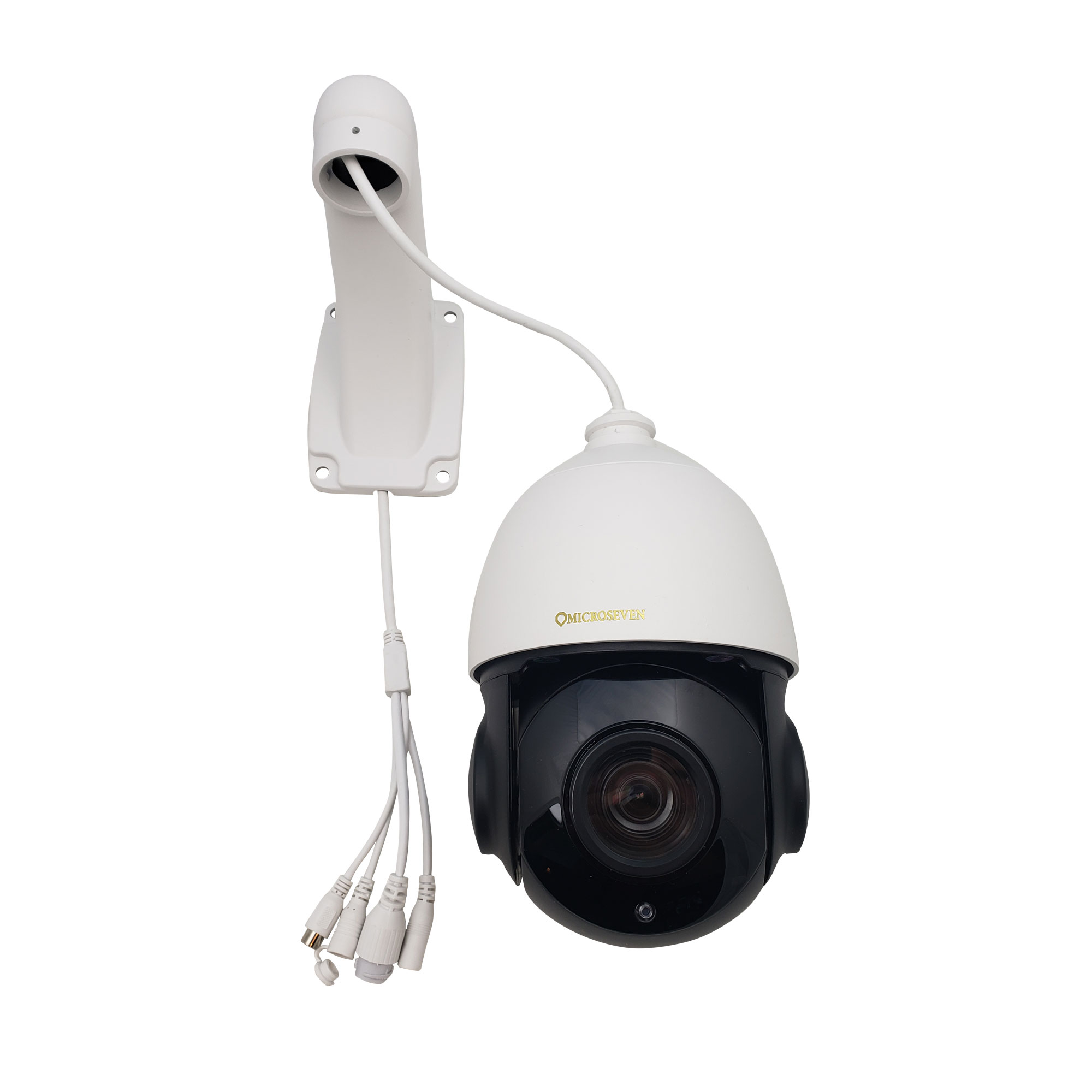 Microseven 1080P / 30fps HD 20X Optical Zoom Pan Tilt Speed Dome IP Camera Built-in WiFi &POE+ Outdoor PTZ Camera, Works with Alexa, Night Vision,Sony Starvis CMOS,IP66 Weatherproof, Built-in 128GB SDcard Slot, Two-Way Audio with Build-in Microphone & External Speaker (Included), Auto Cruise,ONVIF, Web GUI & App, Free 24Hr Cloud Storage