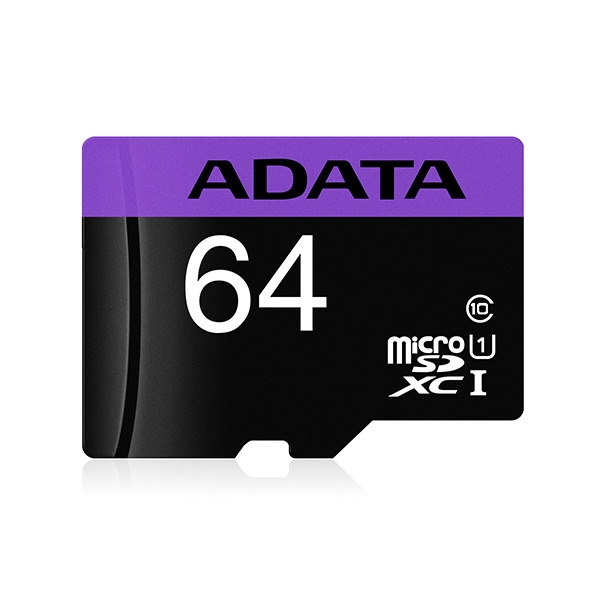 Microseven ADATA 64GB Class 10 Micro SDHC UHS-l Memory Card with Adapter 85MB/s