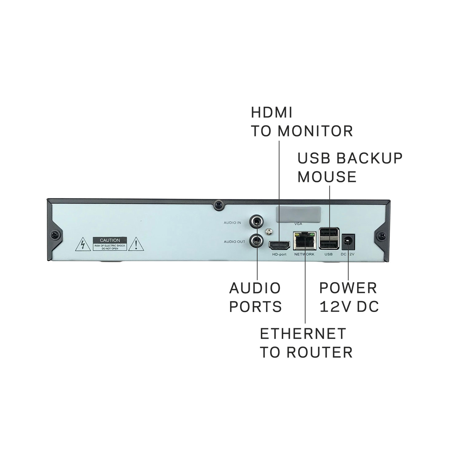 Microseven 4K NVR 8MP 8CH Compatible with Alexa, Security Network Video Recorder (1080p/3MP/4MP/5MP/6MP/8MP) Supports up to 8 x 8-Megapixel IP Cameras, Max. 8TB HDD 1 x SATA (Not Included)