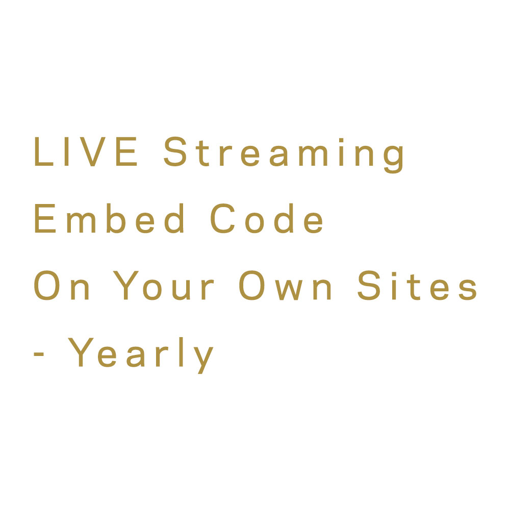 Embed Code Live Streaming On Your Own Sites And Custom Features And Youtuber - Subscription Yearly