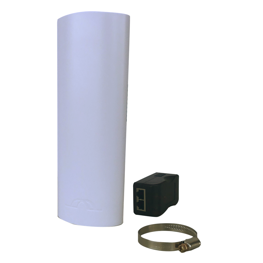 Microseven 5.8GHz WiFi 300Mbps 3Km Range 14dBi Directional Antenna Pre-configured Outdoor Wireless Bridge Point-to-Point link